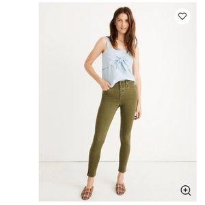 "Madewell Fall 9"" Mid-Rise Skinny Crop Jeans Sz 32"